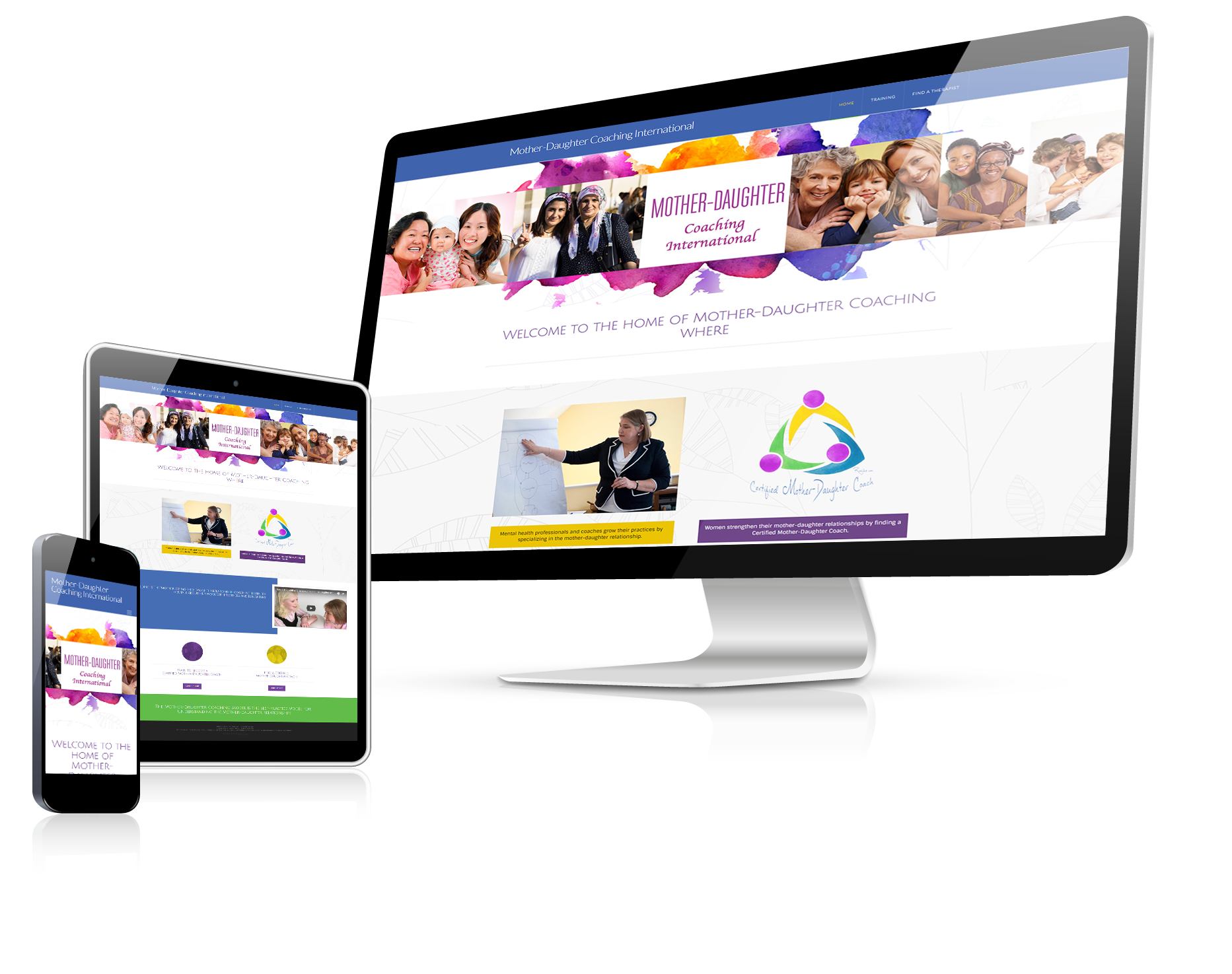 WordPress website design mother and daughter coach
