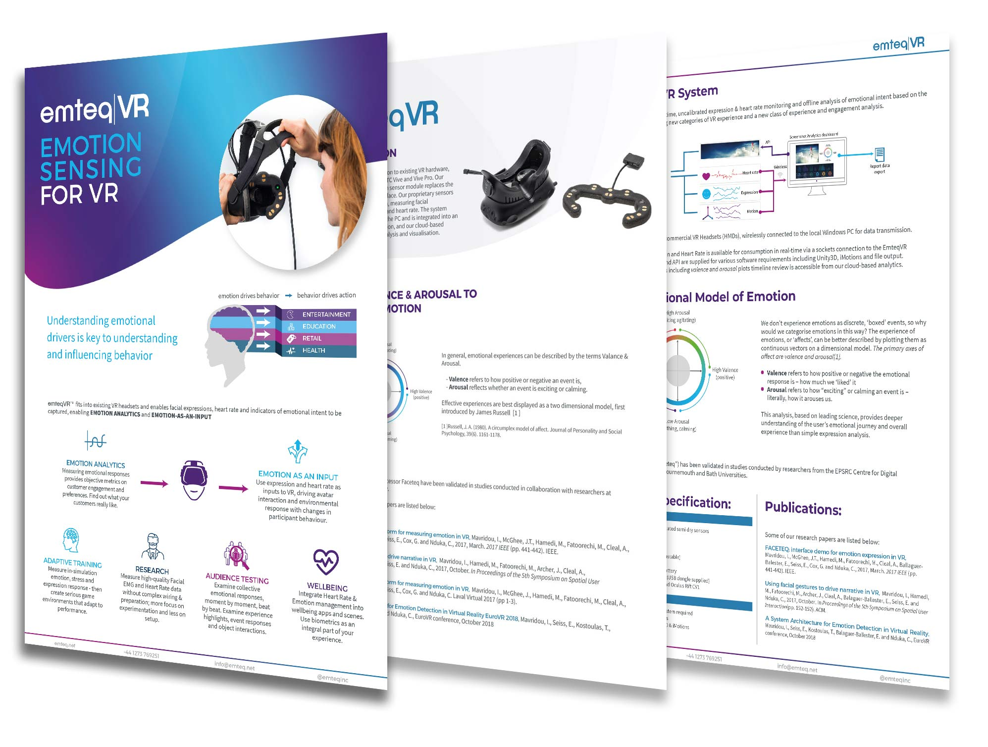 emteq brochure design